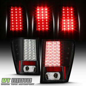 Black 2005 2006 Jeep Grand Cherokee Lumileds Led Tail Lights Lamps Left right