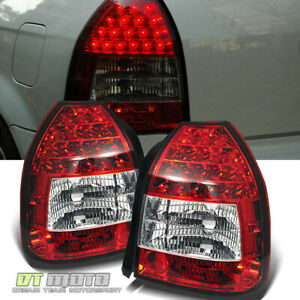 For 1996 2000 Honda Civic Dx Hatchback Led Red Clear Tail Lights Lamp Left right
