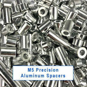 Precision M5 Aluminum Spacers 3 6 9 13 2 20 35 40mm Lengths Spacer Bushing Shim