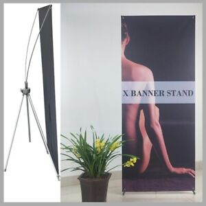 Heavy duty Reinforced Block Adjustable Tripod X Banner Stand 23x63 To 31x78