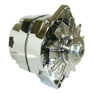 Chrome Bbc Sbc Chevy Gm Alternator 1 Wire Street Rod High Output Adr0335 C
