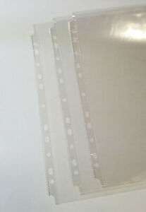 100 Pcs 11 Hole Clear Sheet Protectors 8 5x11 bs Top Loading Fit All Binders