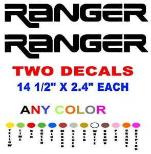 Ranger Ford Stickers Decals Any Color Truck Bedside