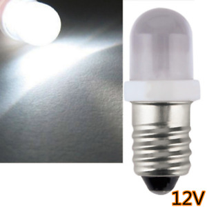 10x White Lamp 12 Volt Screw Mes E10 1447 Led Light Bulb For Torch Bike Bicycle