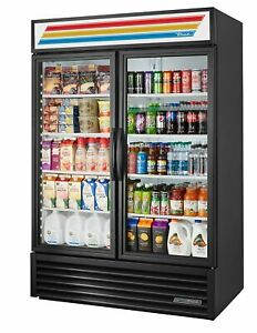 True Gdm 49 hc tsl01 49 Cu Ft Refrigerated Merchandiser W 2 Swing Doors