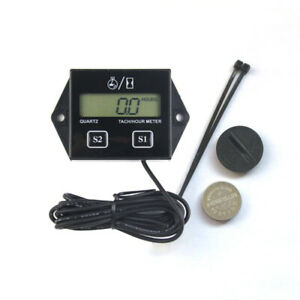 1pc Tach Hour Meter Durable Digital Portative Utility Rotate Speed Timer For Diy