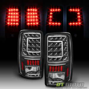 Black 2000 2006 Chevy Suburban Tahoe Gmc Yukon Xl Led C shape Tail Lights Lamps