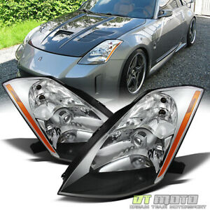 Pair Hid Xenon Headlamps For 2003 2004 2005 350z Projector Headlights Left Right