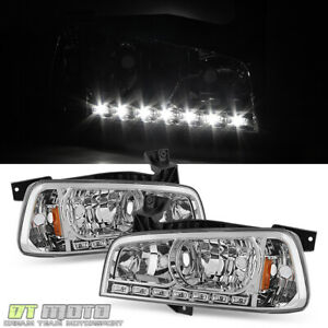 2006 2010 Dodge Charger Drl Led Headlights W Built In Corner Turn Signal Lights