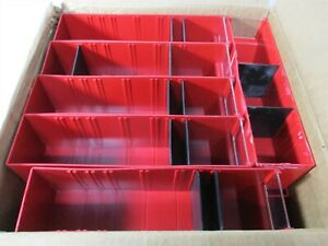 Quantum Storage 11 X 2 3 4 X 3 5 16 Red Interlocking Storage Drawers Qty 24