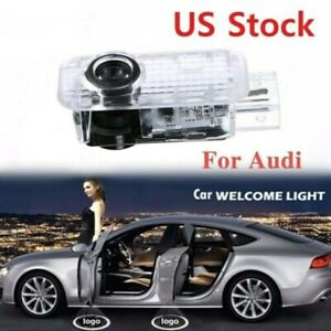 Welcome Led Car Door Light Ghost Shadow Lamp For Audi Logo Projector Us Stock