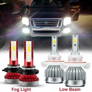 For Ford Explorer 2006 2007 2008 2009 2010 Led Headlights Fog Light Bulbs 6000k