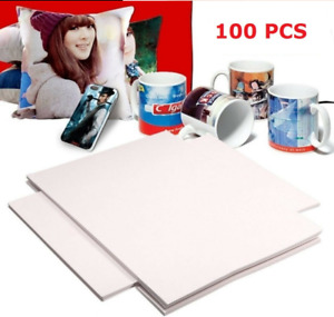100 Sheets A4 Sublimation Iron On Heat Transfer Paper For Inkjet T shirt Printer