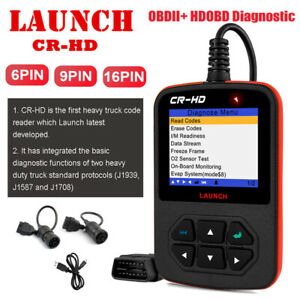 Launch Creader Hd Heavy Duty Truck Code Reader Diagnostic Hdobd Obdii Scanner
