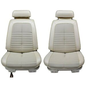1968 1972 Oem Gm A Body Convertible Buckets Rear Set Of Seats Pearl White