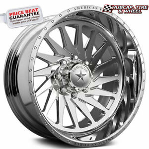 American Force Morph Ckh01 Concave Polished 24 X14 Truck Wheel 8 Lug Set Of 4