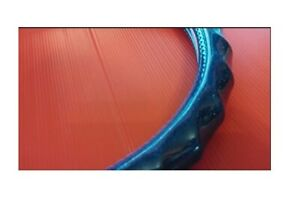 38cm New Wave Glitter Chrome Blue Leather Vehicle Car Steering Wheel Cover