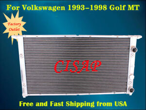 For Volkswagen 1995 1997 Golf 1994 1998 Jetta 1 57 2row Aluminum Radiator