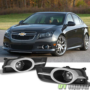 Smoke 2010 2014 Chevy Cruze Bumper Fog Lights Driving Lamps W Switch Left right