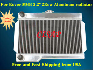 For 1968 1975 69 70 71 72 73 74 Mg Rover Mgb gt 2 2 2row Aluminum Radiator mt