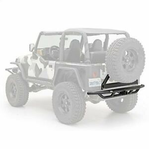 Smittybilt Src Rear Bumper And Tire Carrier With Receiver Hitch Black 76621