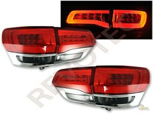 2014 2019 Jeep Grand Cherokee Limited Led Tail Lights Red Smoke Rh