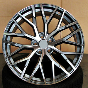 Audi R8 Mesh Style 20x9 5x112 Et30 Gunmetal Machined Face Wheels Set Of 4 Rims