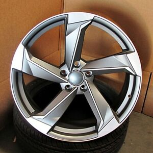 Audi Style 20x9 5x112 Et35 Gunmetal Machined Face Wheels Set Of 4 Rims