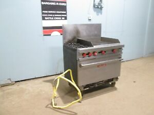 vulcan Commercial Hd Natural Gas 2 Burners Stove W oven 24 x24 Griddle