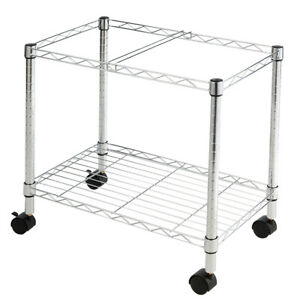 Metal Rolling File Cart For Letter Size And Legal Size Folder Storage On Wheels