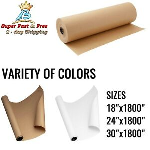 Kraft Paper Roll For Packing Gift Wrap Craft Postal Ship Brown White 150feet Usa