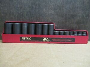 Mac Tools Sxdpm146tr 14 Piece 3 8 Drive Metric Deep Impact Socket Set Pre Owned