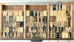 Vintage 100 Wood Letters Letterpress Print Type 2 1 2 2 5 Complete Set Lot
