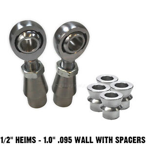 Panhard Rod End Fab Kit 1 2 Chromoly Heim Joint High Angle Spacers 1 095 Wall