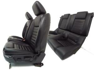 Ford Mustang Seats Black Leather Set Front Rear Seats 2005 2006 2007 2008 2009