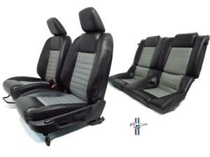 Ford Mustang Seats Black Gray Leather Front Rear Seats 2005 2006 2007 2008 2009