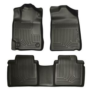 Husky Liners 98511 Front Rear Black Floor Mats Fit 2007 2011 Toyota Camry