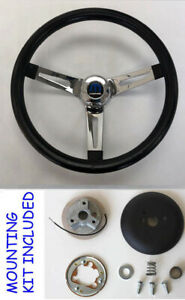 70 76 Dodge Dart Charger Demon Black Chrome Spokes Steering Wheel 13 1 2