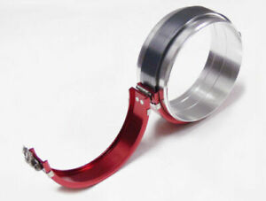 Pegasus 2 Red Universal Aluminum Clamshell Flange Clamp Kit Exhaust Pipe Etc