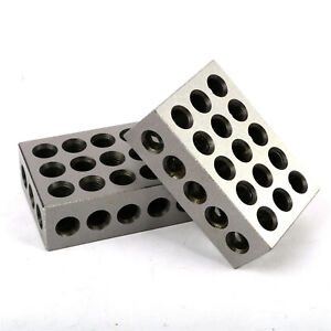 1 Matched Pair Ultra Precision 1 2 3 Blocks 23 Holes 0001 Machinist 123 Us