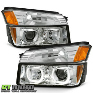 2002 2006 Chevy Avalanche 1500 Chrome Led Halo Projector Headlights bumper Lamps
