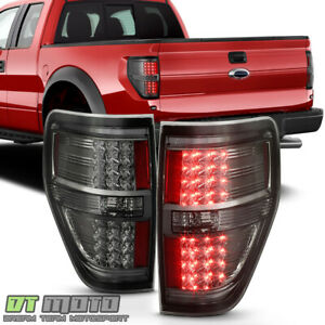 Smoked 2009 2014 Ford F150 F 150 Led Tail Lights Lamps Left Right 09 10 11 12 14