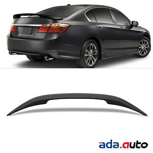 Fit 2013 2017 Accord 4dr Factory Style Matte Black Rear Trunk Spoiler Led Light