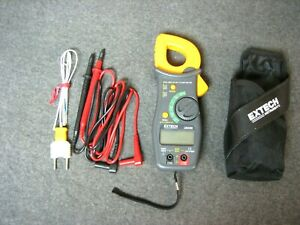 Extech 38389 True Rms Ac dc Clamp Meter W Leads Belt Case