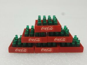 1987 Remco Toys Miniature Plastic Coca Cola Bottles 12 Pack - Set of 6