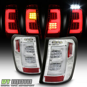 upgrade W full Led Chrome 1999 2004 Jeep Grand Cherokee Tail Lights Brake Lamp