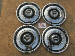 1968 1969 Chevy Impala Caprice Biscayne 15 Wheel Covers Hubcaps Set Of 4