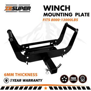 Zesuper Winch Mounting Plate Bracket Foldable Cradle For Truck Trailer 4wd