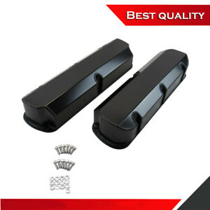 Suit Sb Ford 289 302 351 Fabricated Tall Alum Valve Covers Black Ano