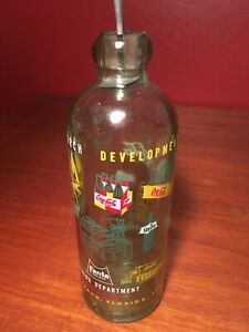 Coca Cola 1961 Miami Florida Hutch Bottlers Convention Engineering Glass Bottle